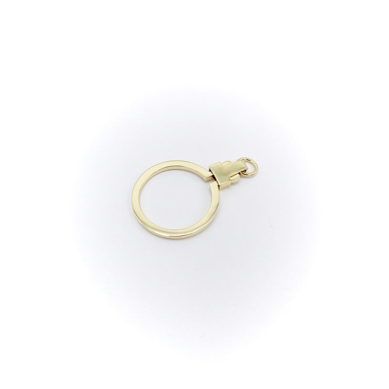Signature 14K Gold Large Circular Charm Holder signature pieces Kirsten's Corner Jewelry