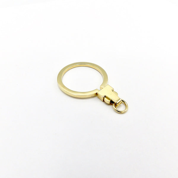 Signature 14K Gold Large Circular Charm Holder - Kirsten's Corner Jewelry