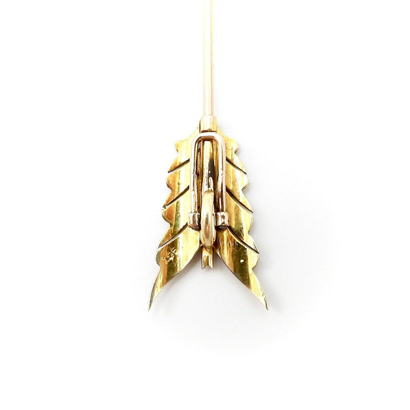 9K Gold Art Deco Arrow Jabot Pin or Pendant - Kirsten's Corner Jewelry