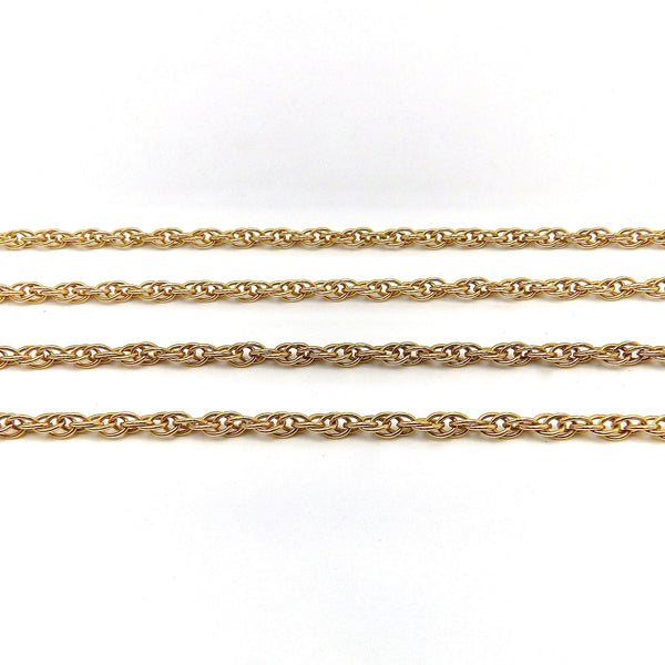 14K Yellow Gold Rope Chain Necklace Chain Kirsten's Corner Jewelry