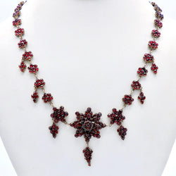 Victorian Bohemian Rose Cut Garnet Necklace Necklace Kirsten's Corner Jewelry