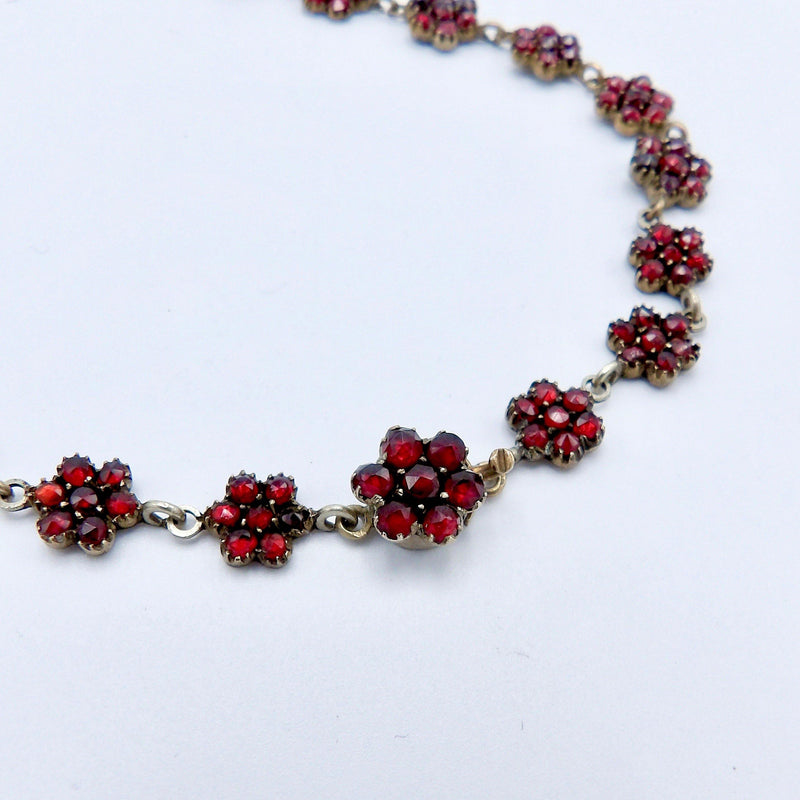 Victorian Bohemian Rose Cut Garnet Necklace - Kirsten's Corner Jewelry