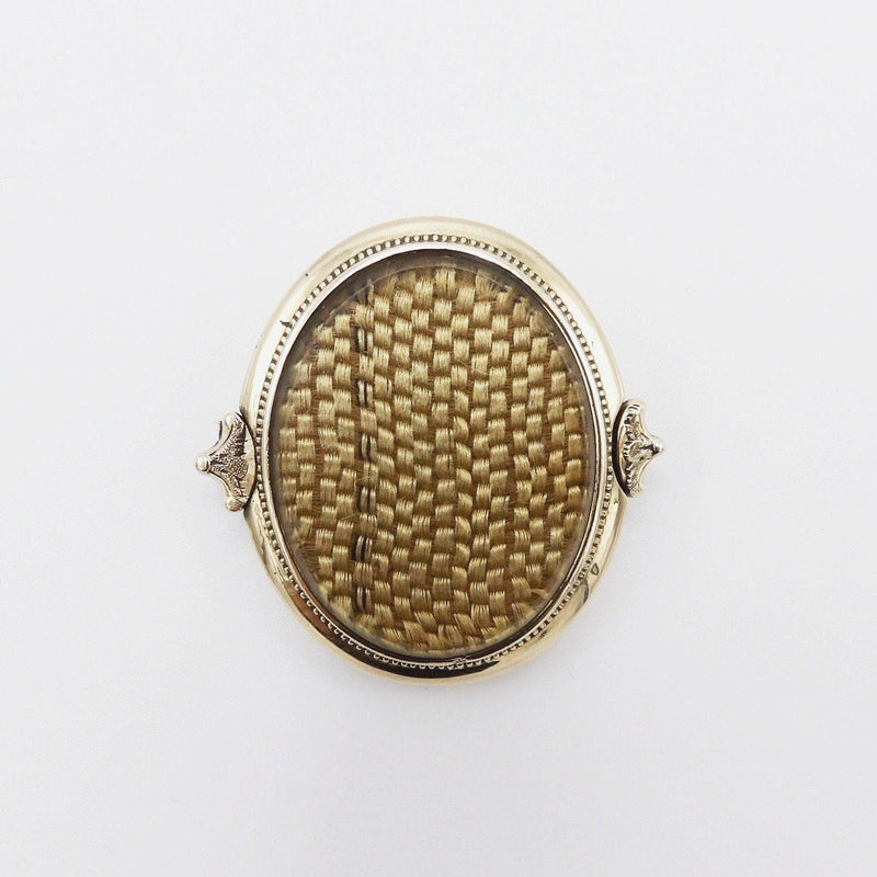 14K Gold Victorian Brooch with Blonde Hair - Kirsten's Corner Jewelry