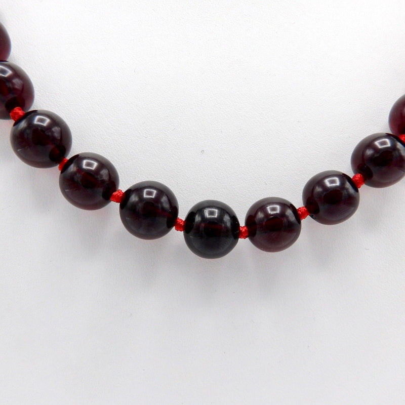 Cherry Amber 1930s Bakelite Bead Necklace Necklace Kirsten's Corner Jewelry