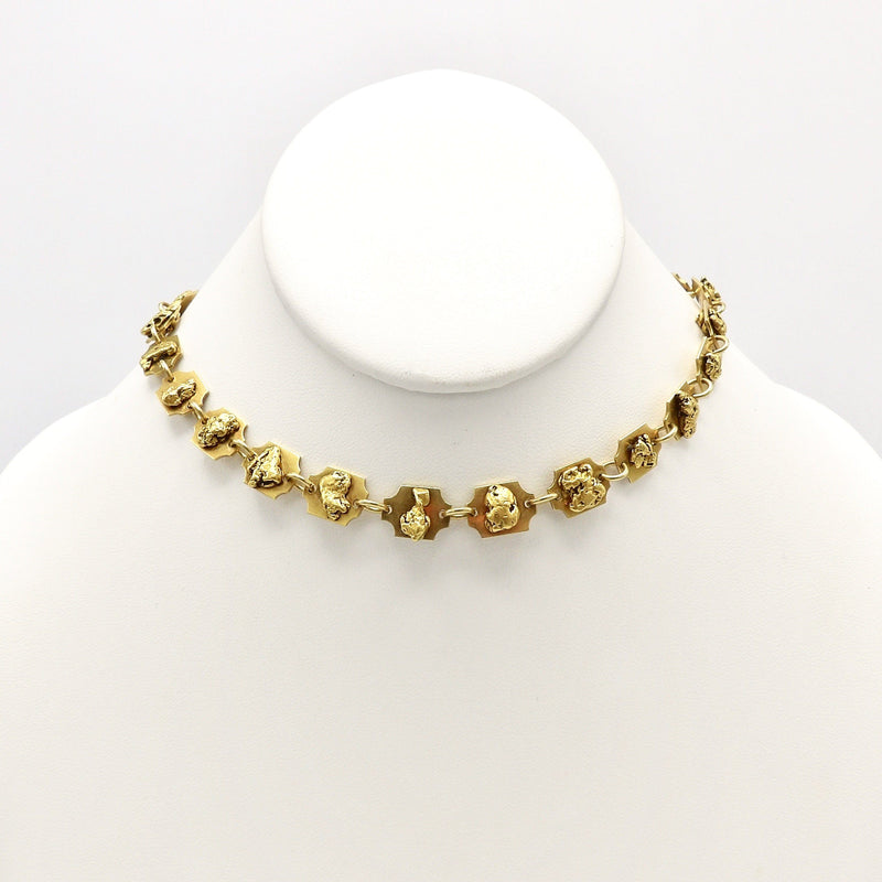 Rare Gold Rush Era 24K & 22K Gold Nugget Necklace - Kirsten's Corner Jewelry