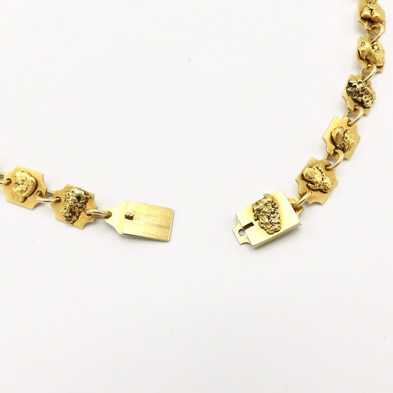 Rare Gold Rush Era 24K & 22K Gold Nugget Necklace Necklace Kirsten's Corner Jewelry