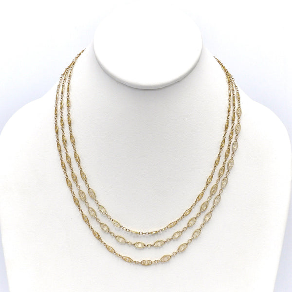 Vintage 14k Gold Long Fancy Link Chain Necklace Kirsten's Corner