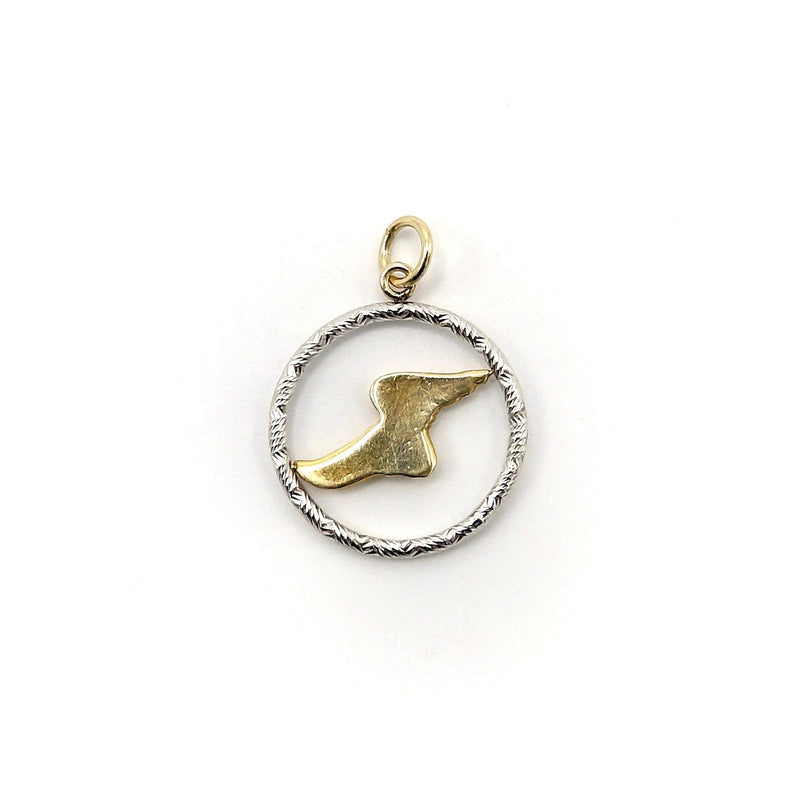 Signature 14K Gold Encircled Hermes Winged Foot Charm Charm Kirsten's Corner Jewelry