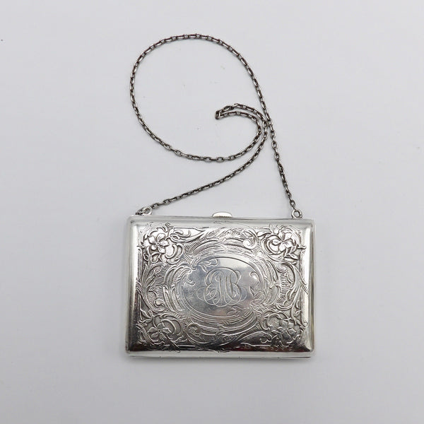Willian Kerr Sterling Silver Art Nouveau Purse - Kirsten's Corner Jewelry
