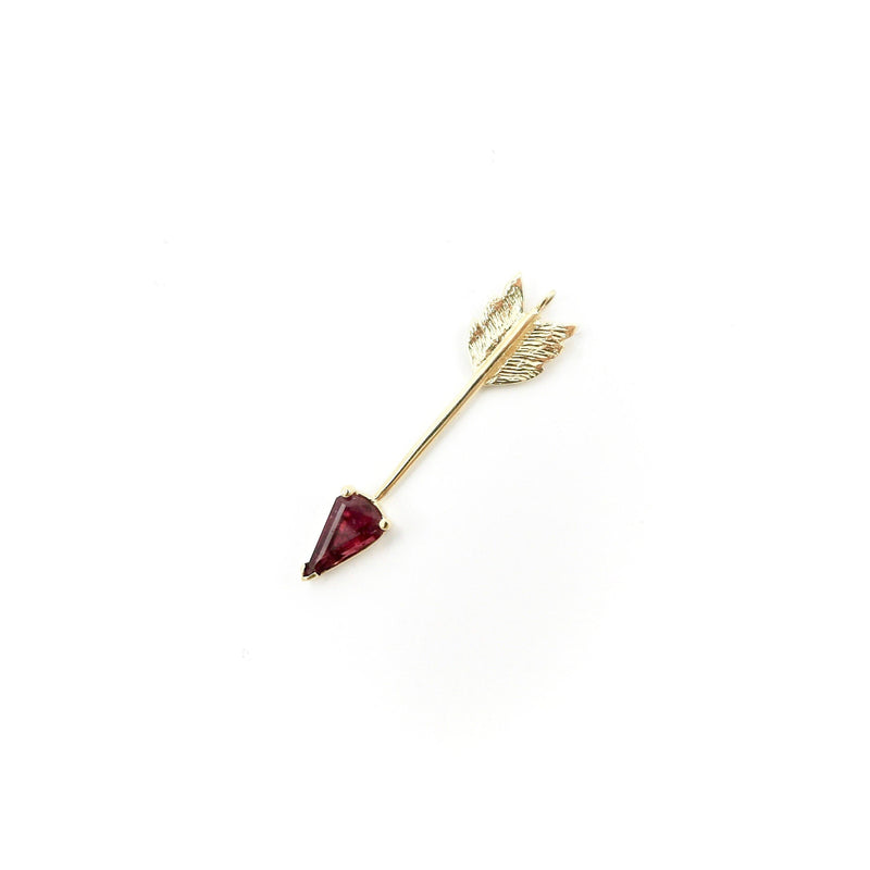 Signature 14K Gold Pink Tourmaline Gemstone Arrow Pendant Pendant Kirsten's Corner Jewelry