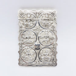Rare 19th Century Indian Silver Calling Card Case Case Kirsten's Corner Jewelry