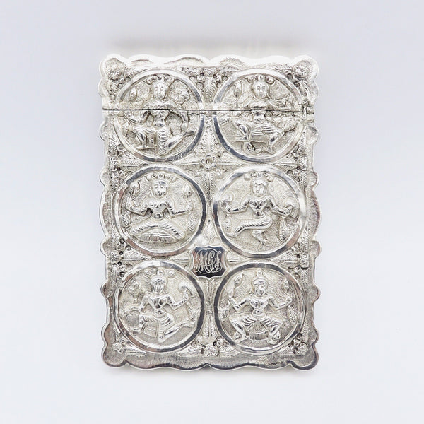 Rare 19th Century Indian Silver Calling Card Case - Kirsten's Corner Jewelry