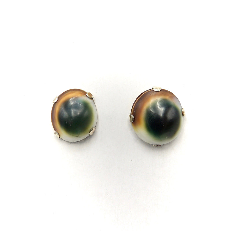 Victorian Operculum 10K Gold Earrings Earrings Kirsten's Corner