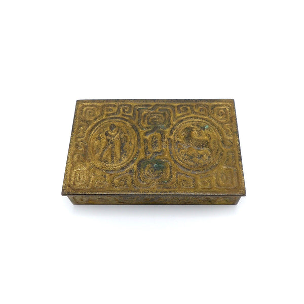 Tiffany Bronze and Gold Dore Zodiac Desk Box, circa 1900-1910 - Kirsten's Corner Jewelry