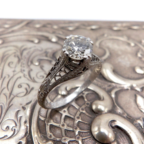 Art Deco Platinum Diamond Engagement Ring ring Ring