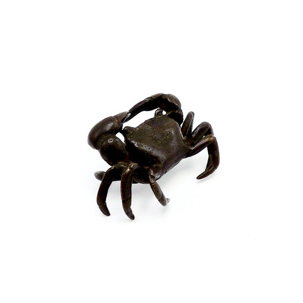 Antique Bronze Meiji Era Okimono Crab Objects of Virtue Kirsten's Corner