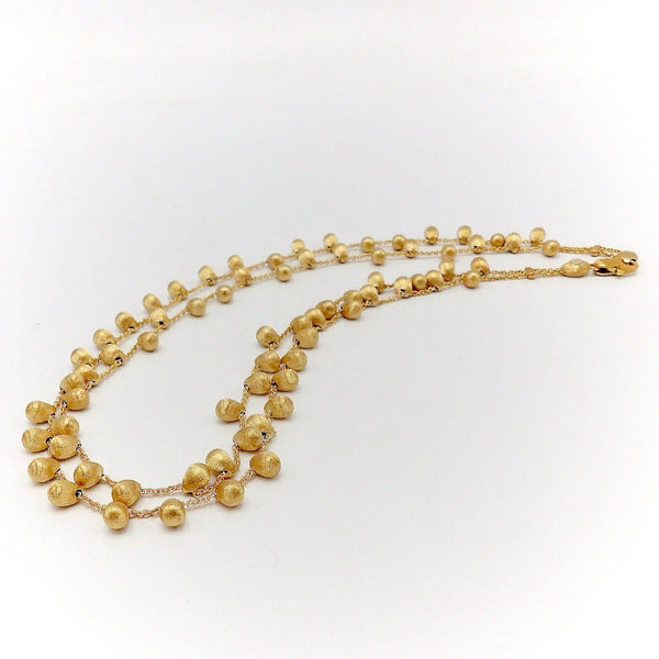 Marco Bicego 18K Gold Double Strand Acapulco Necklace Kirsten's Corner