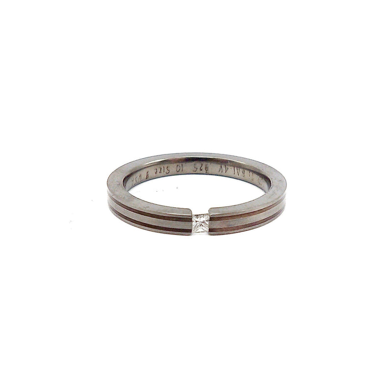 Titanium, Silver and Diamond Ring Ring Kirsten's Corner Jewelry