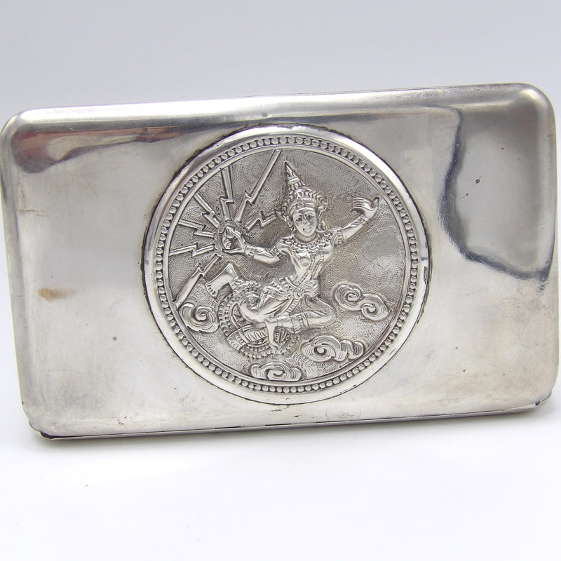 Thai Sterling Silver Case with Mekhala, Goddess of Lightning - Kirsten's Corner Jewelry