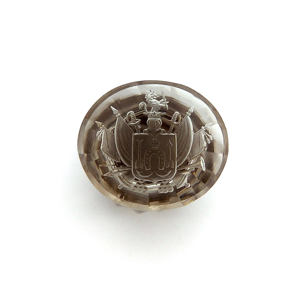 Smokey Quartz Family Crest Intaglio Wax Seal Objects of Virtue Kirsten's Corner Jewelry