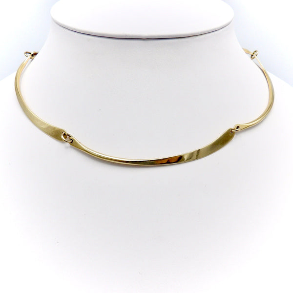 14K Gold Modernist Necklace by Jules Brenner Necklaces, Pendants Kirsten's Corner