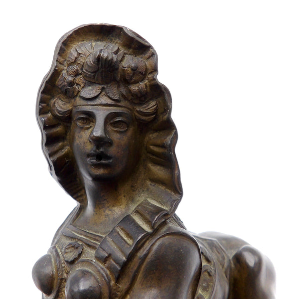 Grand Tour Victorian Bronze Female Sphinx Statue Kirsten's Corner