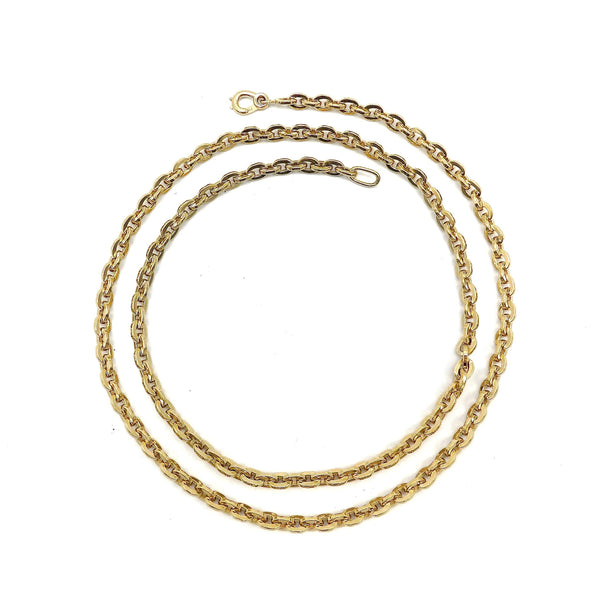 Long Vintage Heavy 14K Gold Chunky Link Chain Necklace Chain Kirsten's Corner