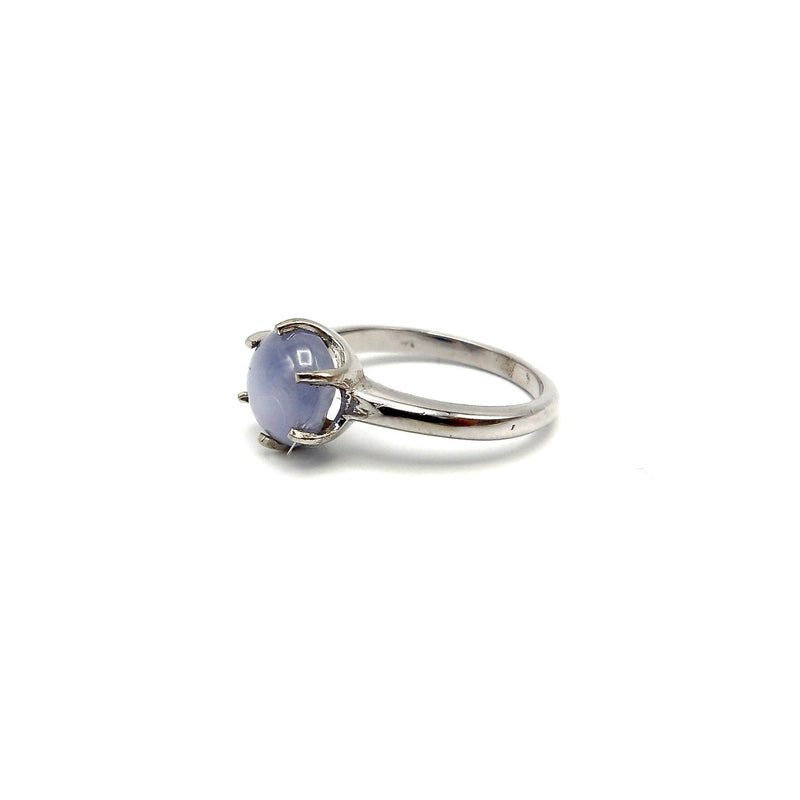 14K White Gold Vintage Blue Star Sapphire Ring RING Kirsten's Corner Jewelry