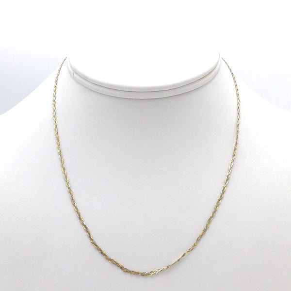 14K Yellow, Rose, and White Gold Braided Necklace Necklace Kirsten's Corner Jewelry