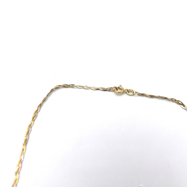 14K Yellow, Rose, and White Gold Braided Necklace - Kirsten's Corner Jewelry
