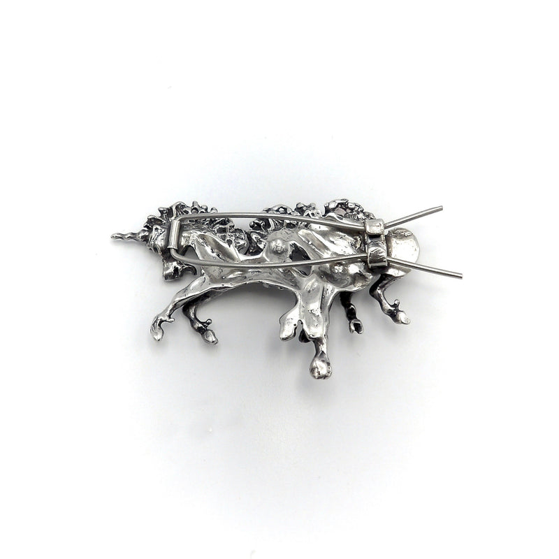 Vintage Sterling Silver Unicorn Hair Barrette Objects of Virtue Kirsten's Corner Jewelry