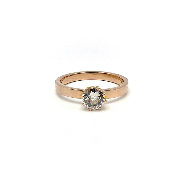 14K Rose Gold Old European Solitaire Diamond Ring Ring Kirsten's Corner Jewelry