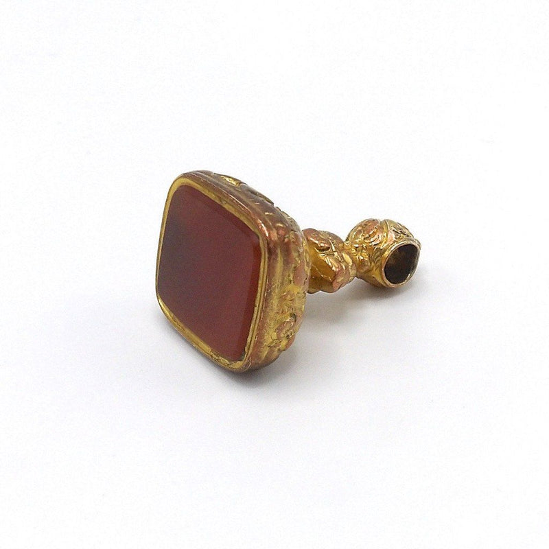 Victorian Gold on Copper and Carnelian Fob Pendant Fob Kirsten's Corner Jewelry