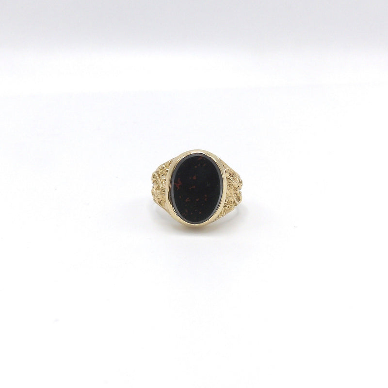 Vintage 9K Gold and Bloodstone Ring ring Kirsten's Corner Jewelry