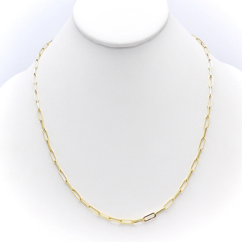 14K Gold Small Paper Clip Link Necklace or Chain Chain Kirsten's Corner