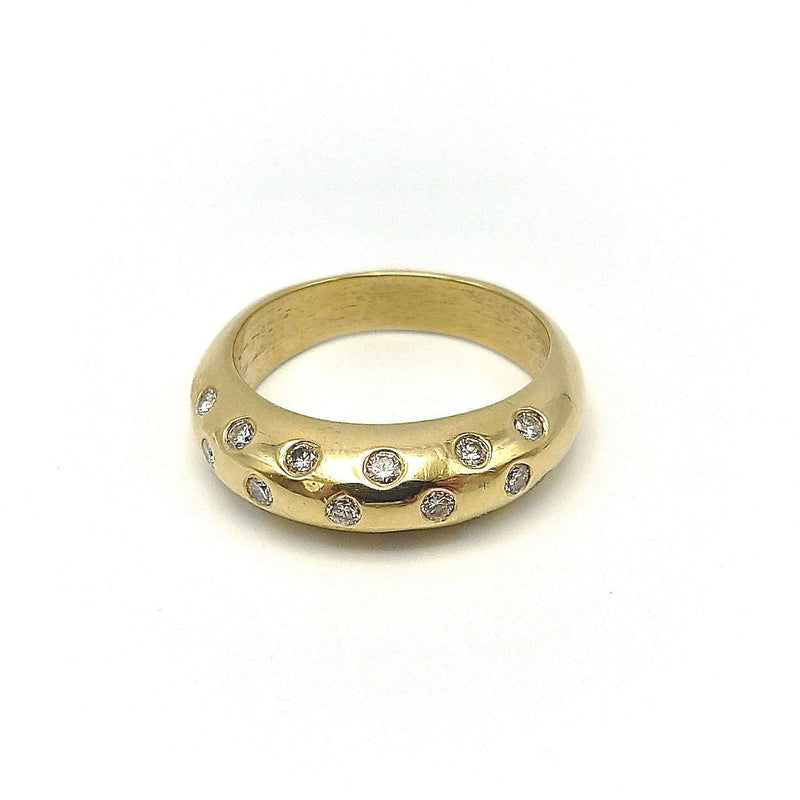 18K & Diamond Contemporary Dome-Shaped Ring Ring Kirsten's Corner Jewelry