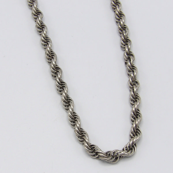 Vintage Sterling Silver Rope Link Necklace Necklace Kirsten's Corner Jewelry