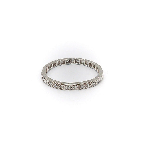 1930s Platinum Eternity Band with Diamonds Ring Kirsten's Corner Jewelry