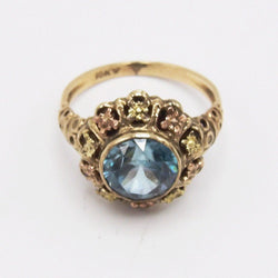 Vintage 9K Yellow and Rose Gold Zircon Ring Ring Kirsten's Corner Jewelry