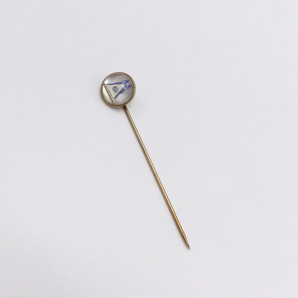 Essex Crystal 14K Gold Nautical Flag Stick Pin - Kirsten's Corner Jewelry