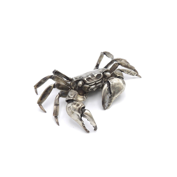 Sterling Silver Articulated Crab Sculpture by Oleg Konstantinov okimono Kirsten's Corner Jewelry