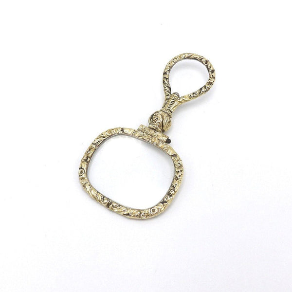 Late Georgian 14K Gold Quizzing Magnifying Glass - Kirsten's Corner Jewelry