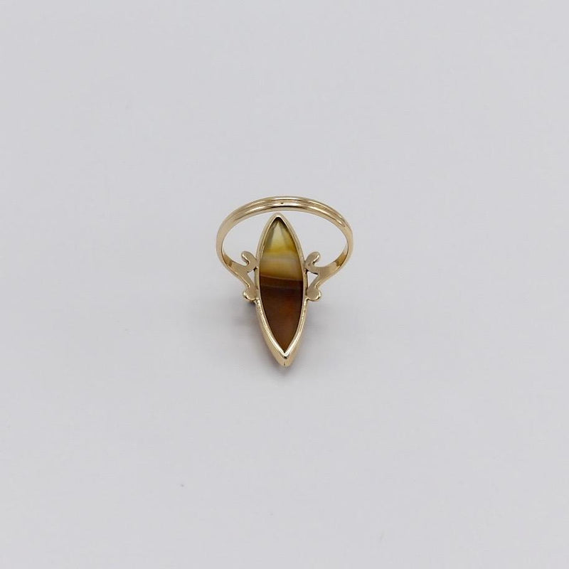 Victorian 10K Gold Banded Agate Ring Ring Kirsten's Corner Jewelry