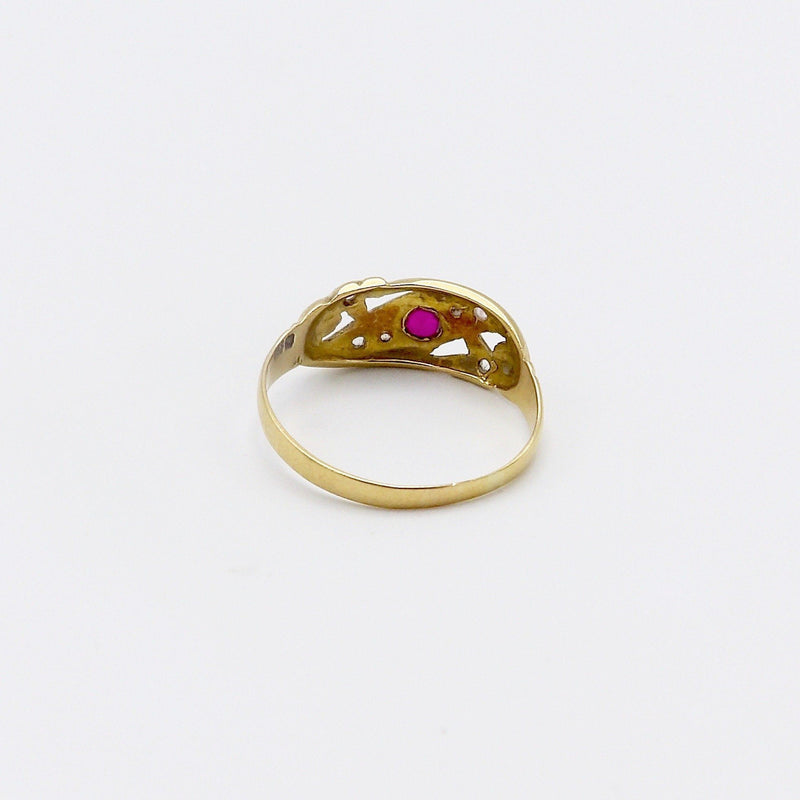 Victorian 18K Gold Ruby and Diamond Ring - Kirsten's Corner Jewelry