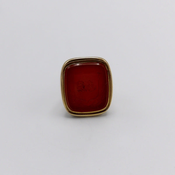 Georgian Fob Gold Cased with Carved Carnelian - Kirsten's Corner Jewelry