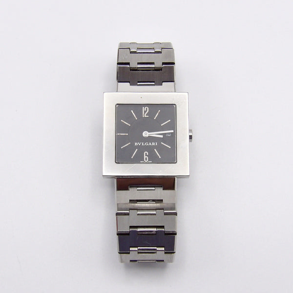 Vintage Quadrangle Stainless Steel Bvlgari Watch - Kirsten's Corner Jewelry