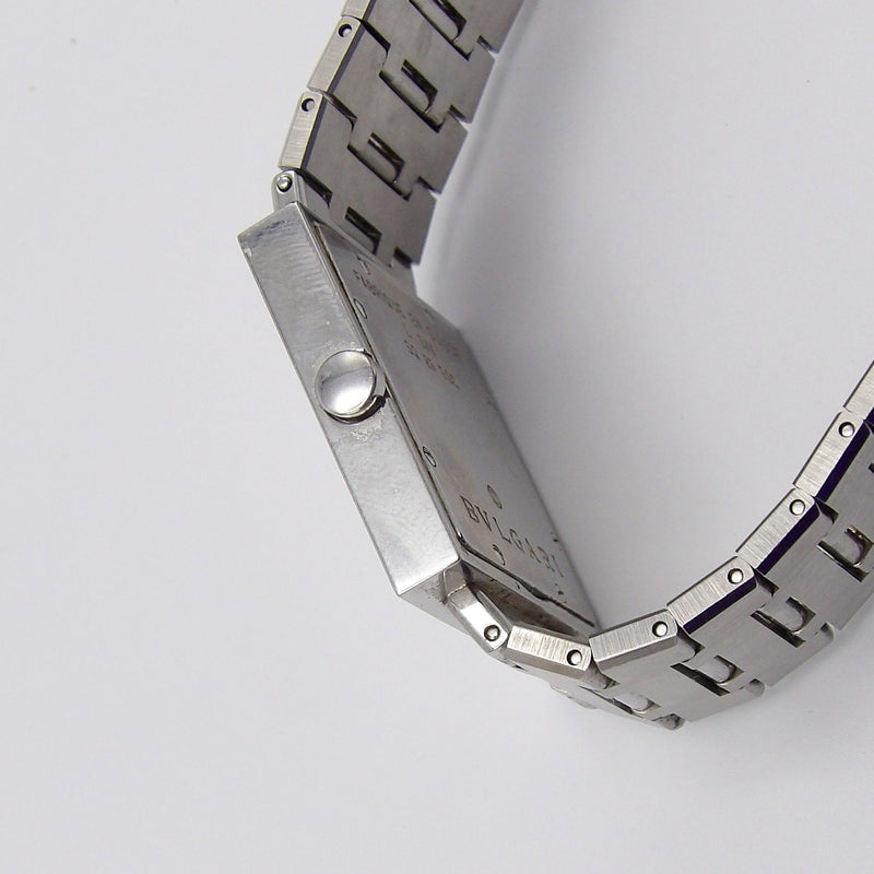 Vintage Quadrangle Stainless Steel Bvlgari Watch Watch Kirsten's Corner Jewelry
