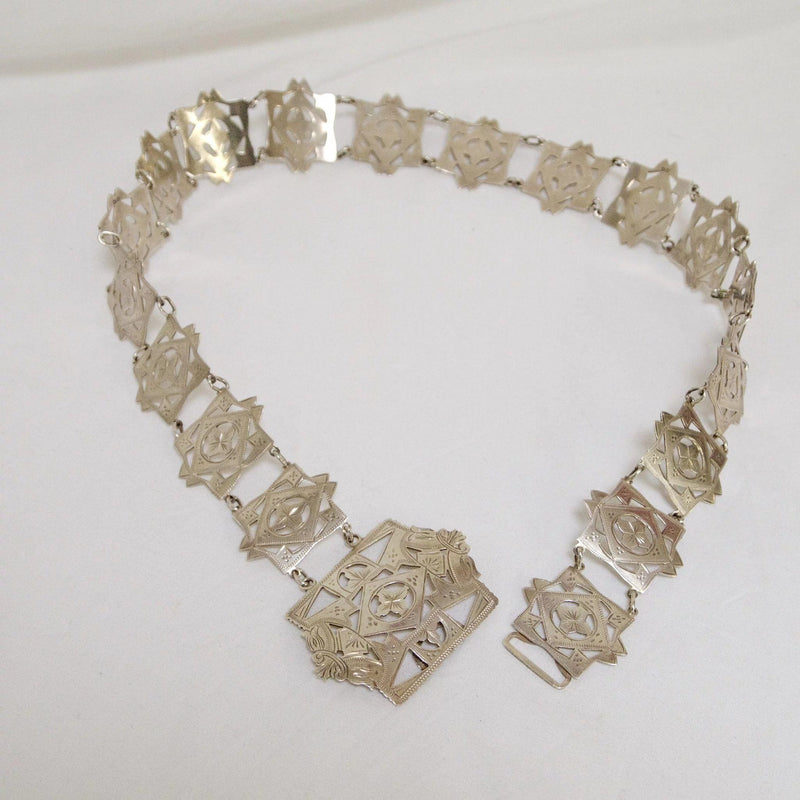 English Sterling Silver Arts and Crafts Belt, Circa 1911 Belt Kirsten's Corner Jewelry
