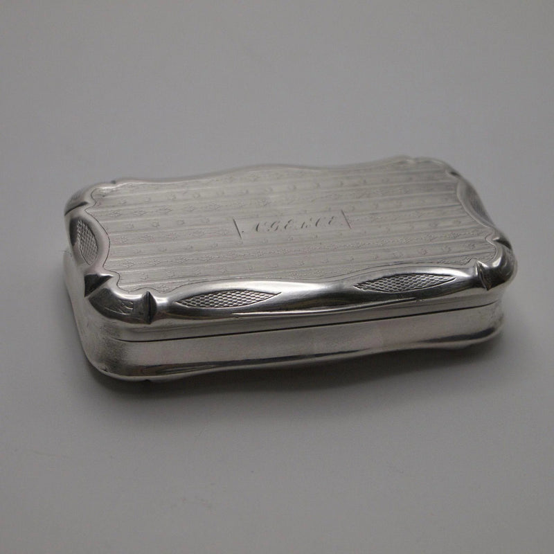 French 950 Silver Engine Turned or Pill Box - Kirsten's Corner Jewelry
