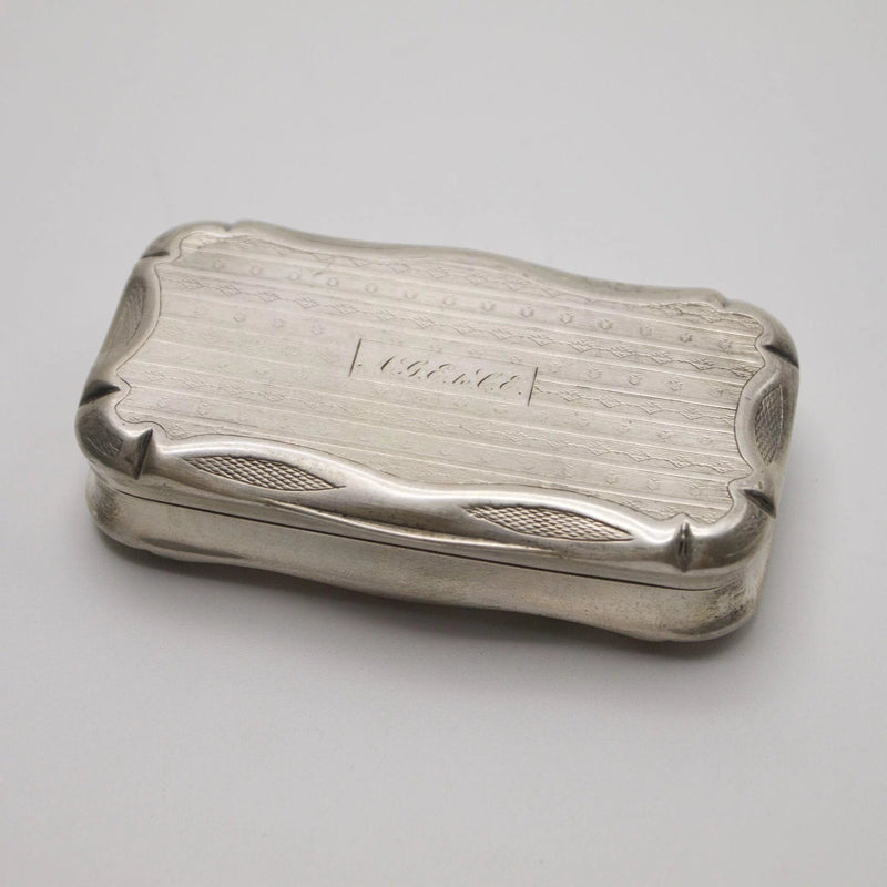 French 950 Silver Engine Turned or Pill Box Box Kirsten's Corner Jewelry